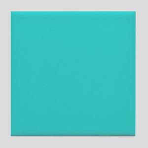 modern abstract teal Tile Coaster