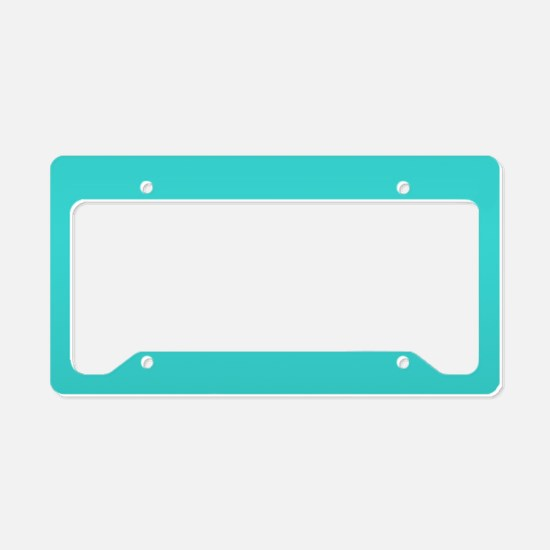 modern abstract teal License Plate Holder