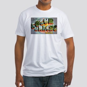 Coeur d'Alene Idaho (Front) Fitted T-Shirt