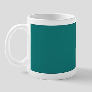 solid color teal Mug
