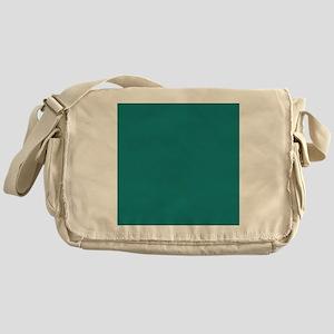 solid color teal Messenger Bag
