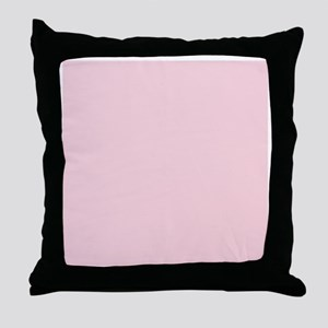 cute blush pink Throw Pillow