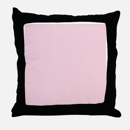 cute blush pink Throw Pillow