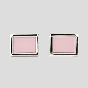 cute blush pink Rectangular Cufflinks