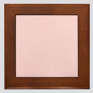 cute blush pink Framed Tile