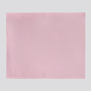 cute blush pink Throw Blanket