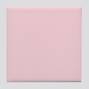 cute blush pink Tile Coaster