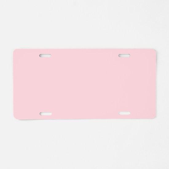 cute blush pink Aluminum License Plate
