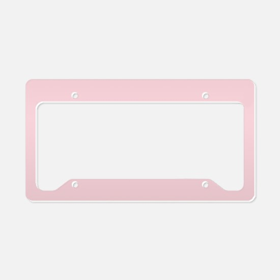cute blush pink License Plate Holder