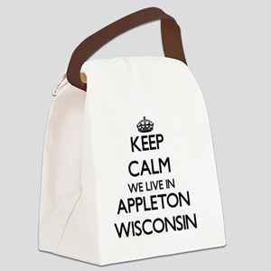 Keep calm we live in Appleton Wis Canvas Lunch Bag