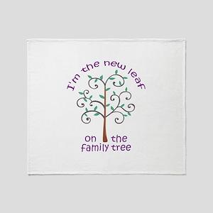 NEW LEAF ON FAMILY TREE Throw Blanket
