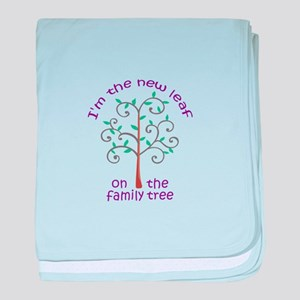 NEW LEAF ON FAMILY TREE baby blanket