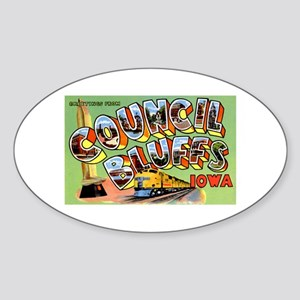 Council Bluffs Iowa Oval Sticker