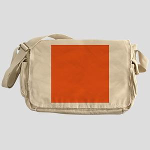 modern plain orange Messenger Bag