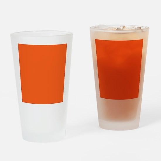modern plain orange Drinking Glass