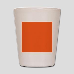 modern plain orange Shot Glass