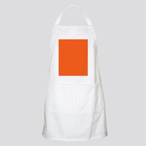 modern plain orange Apron