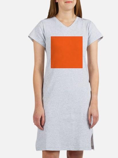 modern plain orange Women's Nightshirt