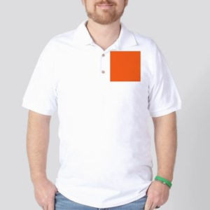 modern plain orange Golf Shirt