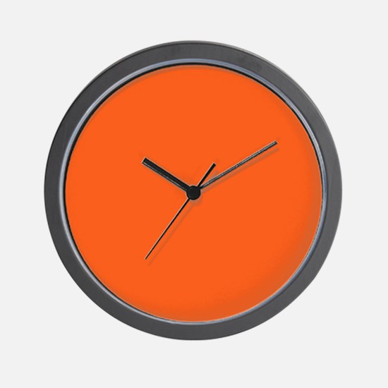modern plain orange Wall Clock