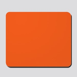 modern plain orange Mousepad
