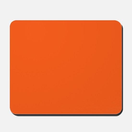 modern plain orange Mousepad