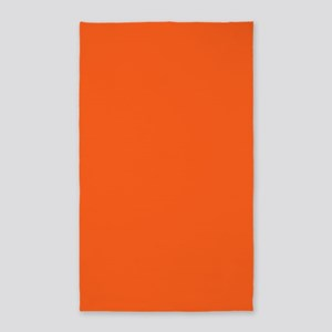 modern plain orange Area Rug