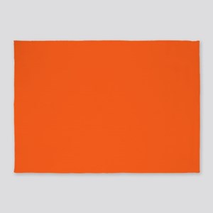 modern plain orange 5'x7'Area Rug