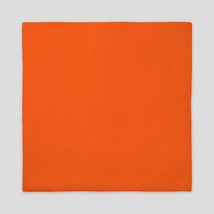 modern plain orange Queen Duvet