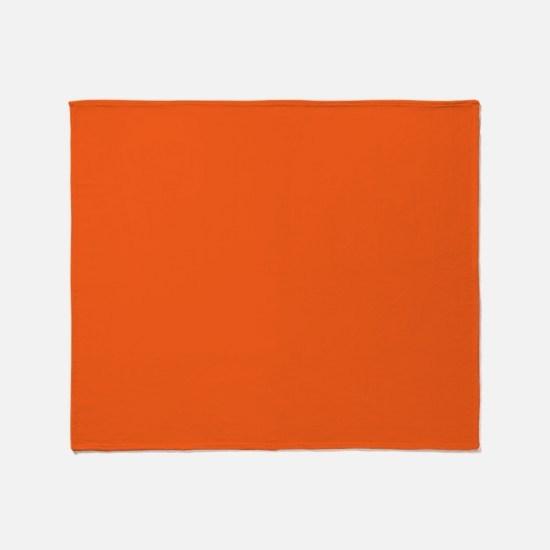 modern plain orange Throw Blanket
