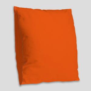 modern plain orange Burlap Throw Pillow