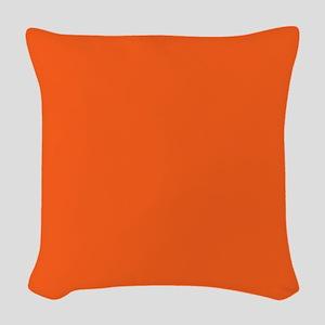 modern plain orange Woven Throw Pillow