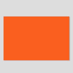 modern plain orange Postcards (Package of 8)