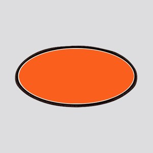 modern plain orange Patches