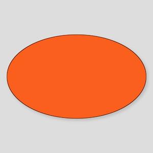 modern plain orange Sticker