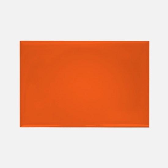 modern plain orange Magnets