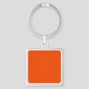 modern plain orange Keychains