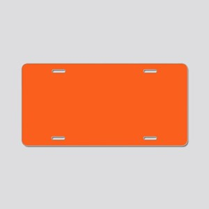 modern plain orange Aluminum License Plate