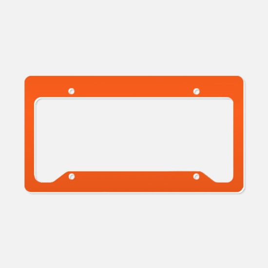modern plain orange License Plate Holder