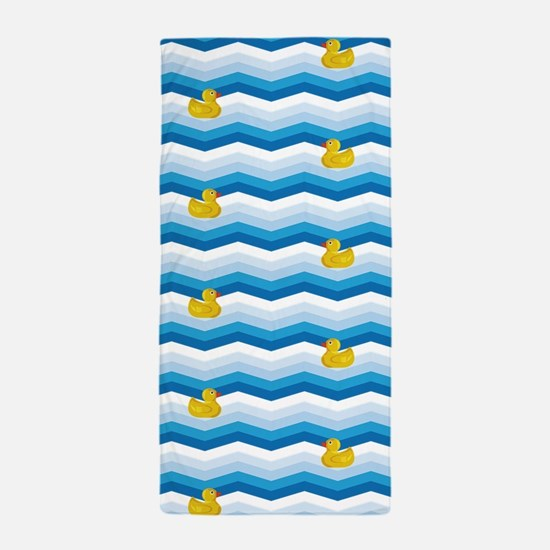 Duck Duck Duck Pattern Beach Towel