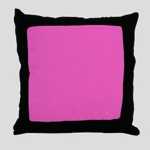 girly fuschia pink Throw Pillow