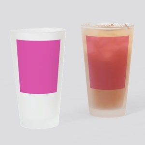 girly fuschia pink Drinking Glass