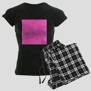 girly fuschia pink Women's Dark Pajamas