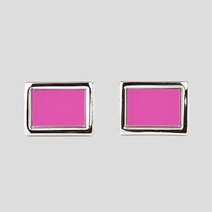 girly fuschia pink Rectangular Cufflinks