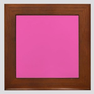 girly fuschia pink Framed Tile