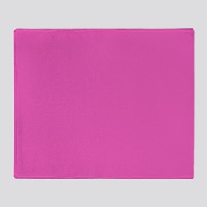 girly fuschia pink Throw Blanket