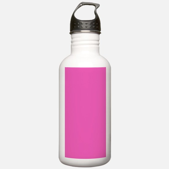 girly fuschia pink Water Bottle