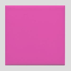 girly fuschia pink Tile Coaster