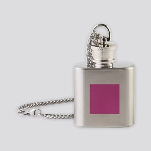 girly fuschia pink Flask Necklace