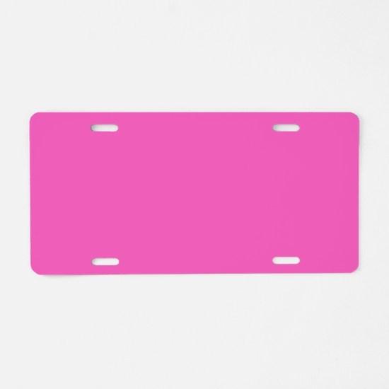 girly fuschia pink Aluminum License Plate